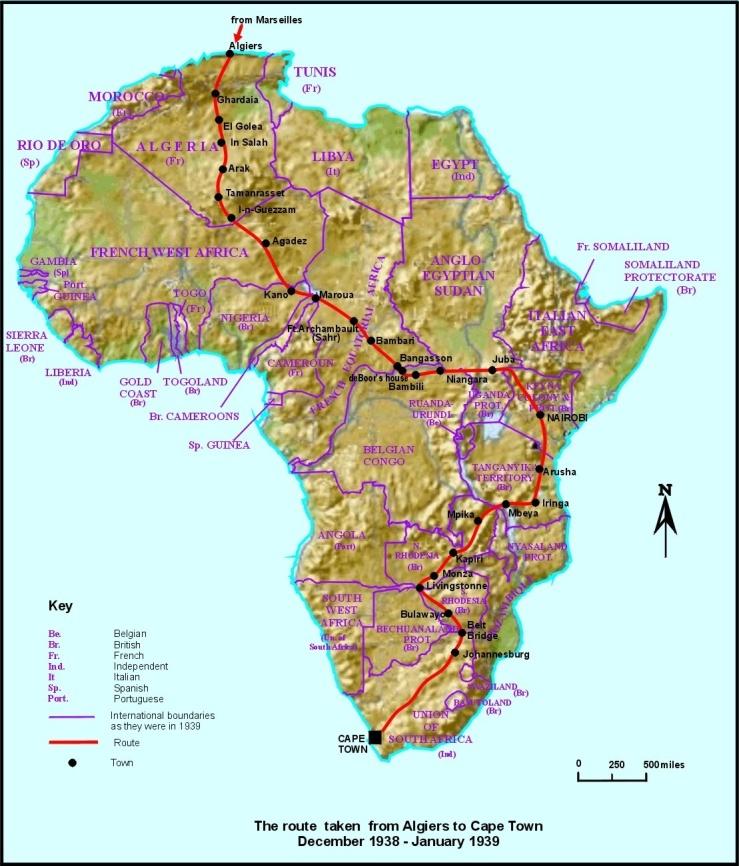 cross africa 1939